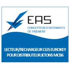 LECTEUR RECHARGEUR CLE EUROKEY POUR DISTRIBUTEUR JETONS MCB6