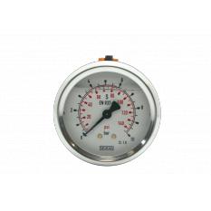 MANOMETRE INOX 0-10 BARS RACCORD DOS M1/4