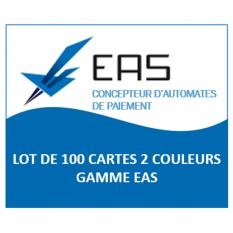 LOT 100 CARTES 2 COULEURS EAS GAMME EAS - CAPMONETIQUE