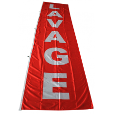 DRAPEAU LAVAGE 400x100cm ROUGE
