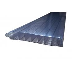 PANNEAU PVC 40x250x2500mm BLEU TRANSLUCIDE
