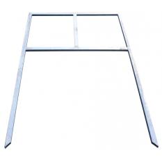 SUPPORT PANNEAU DIRECTIONNEL GALVA (pour panneaux en 100 X 60 cm)